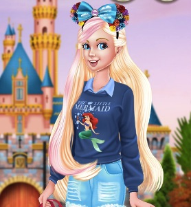Barbie Visits Disneyland