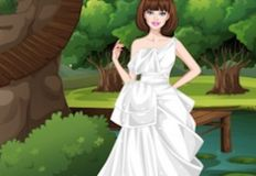 Barbie White Swan Bride Dress Up