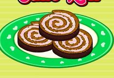 Barbies Chocolate Ice Cream Cake Roll