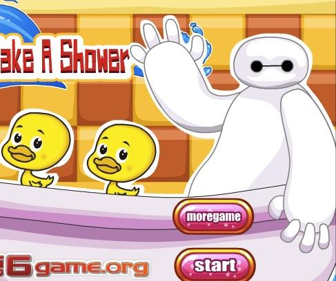 Baymax Take a Shower