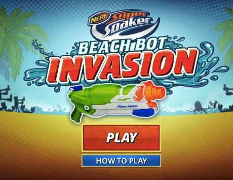 Beach Bot Invasion