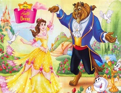 Beauty and the Beast Rotate Puzzle