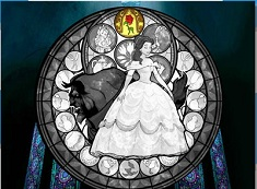 Beauty and the Beast Stained Glass Puzzle