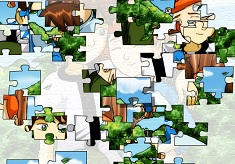 Ben 10 and Gwen Puzzle