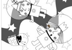 Ben and Holly Astronauts Coloring