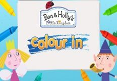 Ben and Holly Little Kingdom Colour In