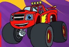 Blaze and the Monster Machines Coloring Book