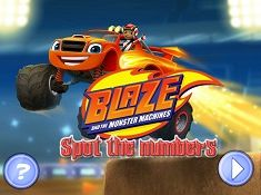 Blaze and the Monster Machines Spot the Numbers