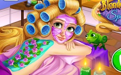 Blonde Princess Spa Day