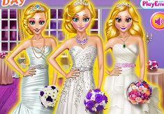 Blonde Princess Wedding Day