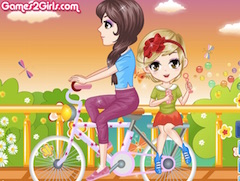 Blowing Bubbles on Bicycle