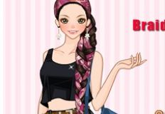 Braids with Scarves Anime