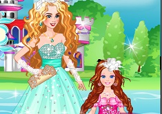 Bride Cinderella and Flower Girl