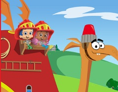Bubble Guppies Firefighter Knight To The Rescue - Bubble
