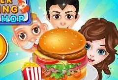 Burger Cookign Food Shop
