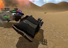 Cars Shooting in the Desert 3D