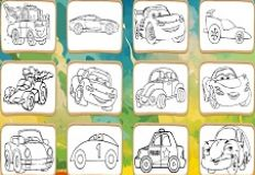 Cartoons Cars Coloring