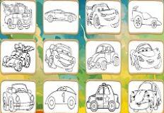 Cartoons Cars Coloring