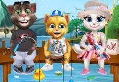 Cats Go Fishing