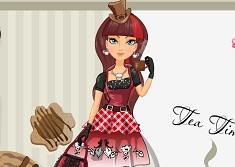 Cerise Hood Hat Tastic Tea Party
