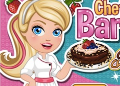 Chef Barbie Chocolate Cheesecake