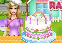 Chef Felicia Rainbow Cake