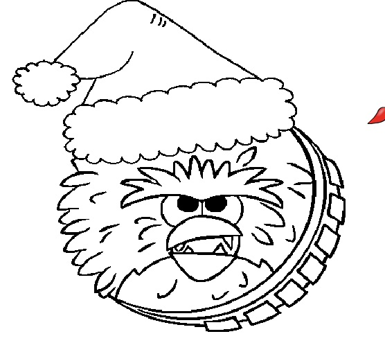 Chewbacca Christmas Coloring