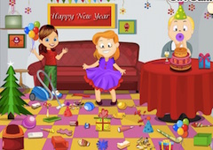 Children New Year Cleaning