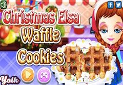 Christmas Elsa Waffle Cookies