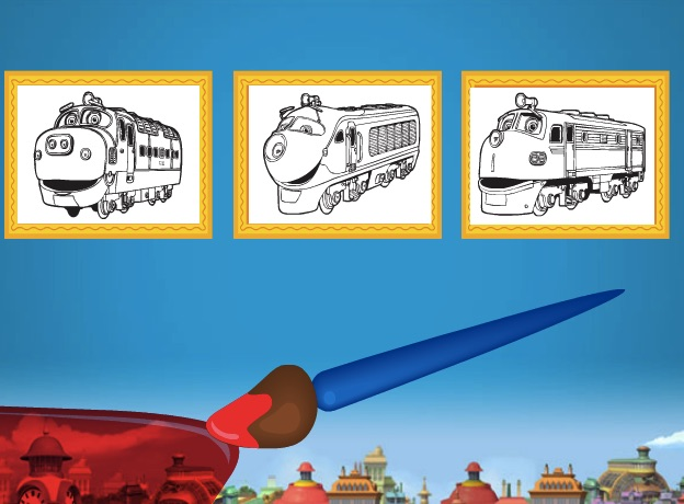 Chuggington Coloring Game