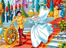 Cinderella and Prince Wedding Puzzle
