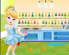 Cinderella Baby Kitchen Cleaning