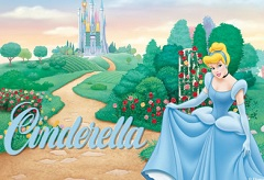 CINDERELLA IN THE GARDEN PUZZLE CINDERELLA GAMES