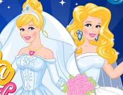 Cinderella Now and Then Wedding Day