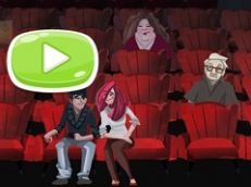Cinema Lovers Hidden Kiss