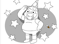 Clarence Birthday Coloring