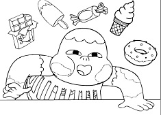 Clarence Hungry Coloring
