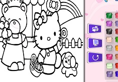 Color Hello Kitty and Friends