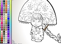 Coloring Masha Maiden