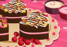 Cook Brownie Hearts with Raspberry Cream