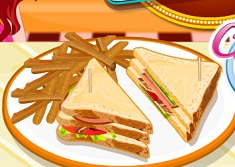 Cook Turkey Club Sandwiches