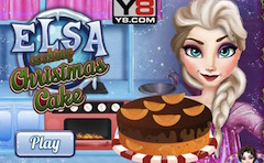 Cooking Christmas Cake with Elsa