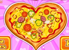 Cooking Fresh Hearted Pizza