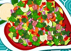 Cooking Vegetable Salad