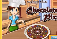 Cooking with Sara Chocolate Pizza