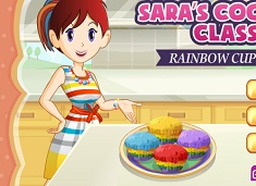 Cooking with Sara Rainbow Muffins