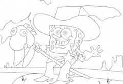 Cowboy Spongebob