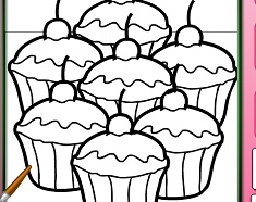 Cupcakes Online Coloring