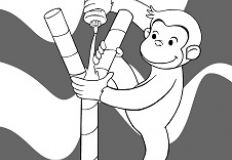 Curious George Monkey Coloring