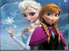 Cute  Anna and Elsa Puzzle